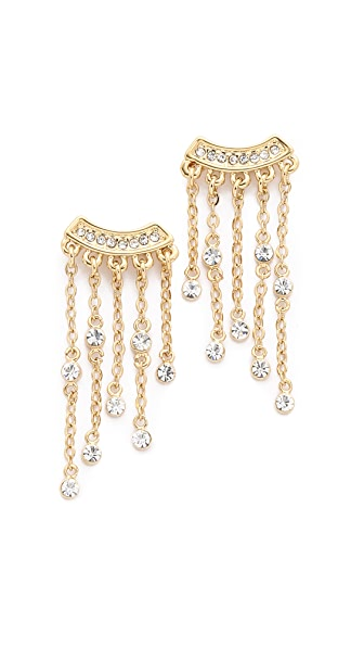 Rebecca Minkoff Crystal Fringe Earrings