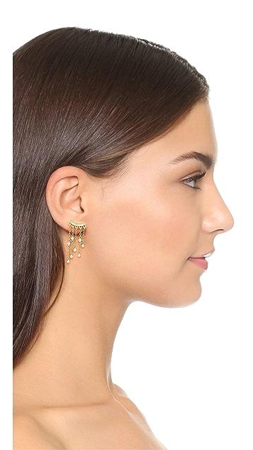 Rebecca Minkoff Crystal Fringe Earrings