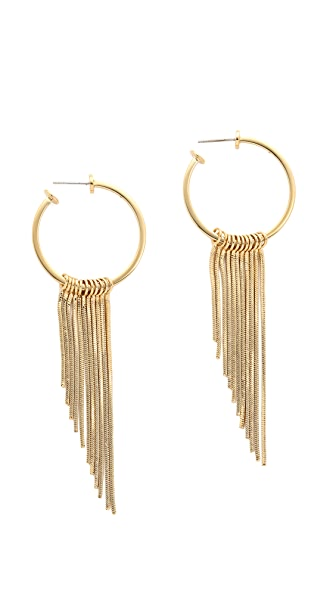 Rebecca Minkoff Fringe Hoop Earrings