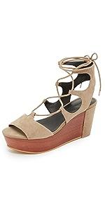 Cady Platform Sandals                Rebecca Minkoff