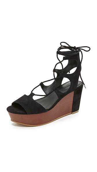 Rebecca Minkoff Cady Platform Sandals - Black