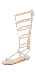 Giselle Tall Studded Sandals                Rebecca Minkoff