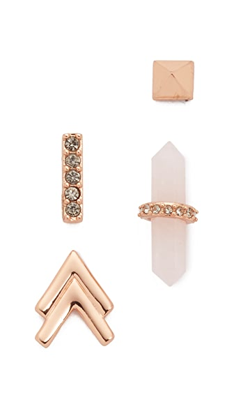 Rebecca Minkoff Set of Four Earrings