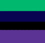 Black/Navy/Purple/Teal