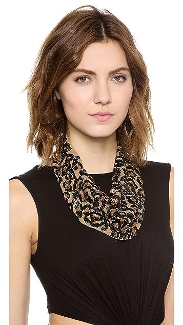 ROARKE new york Leopard Bib Necklace