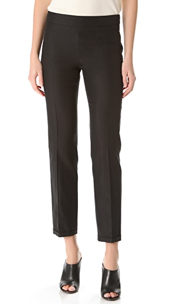 Rochas Black Silk Pants