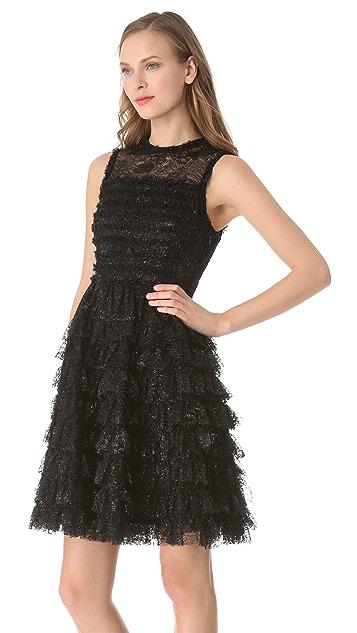 Rochas Sleeveless Ruffle Dress