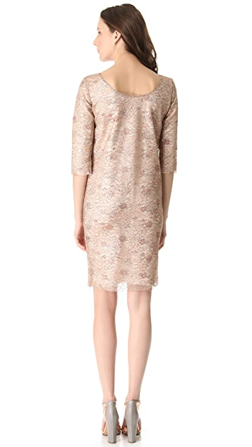 Rochas Metallic Lace Dress