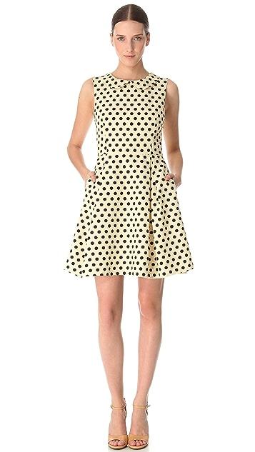 Rochas Sleeveless Polka Dot Dress