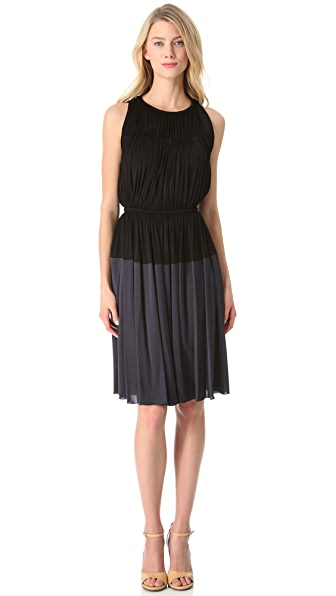 Rochas Sleeveless Two Tone Dress