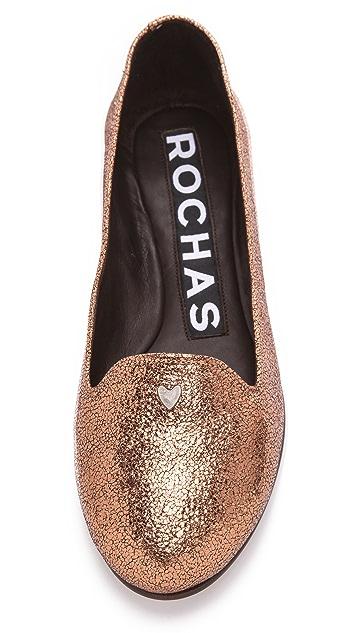 Rochas Metallic Flats