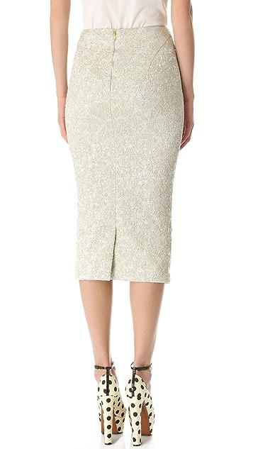 Rochas Below the Knee Pencil Skirt