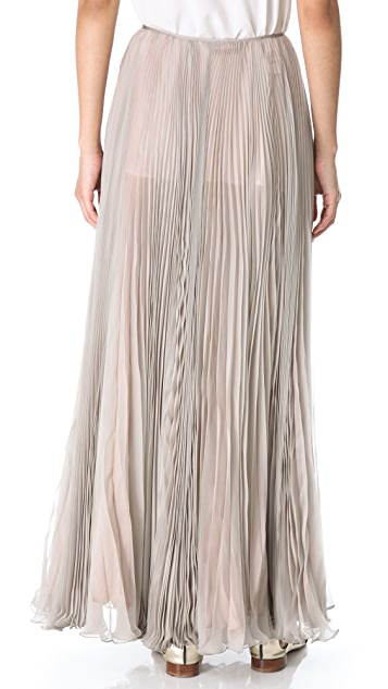Rochas Pleated Maxi Skirt