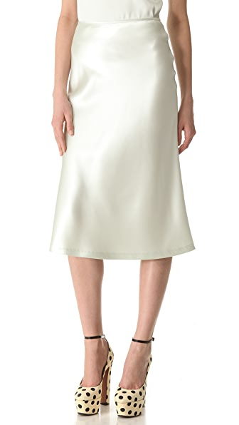 Rochas Acqua Silk Pencil Skirt