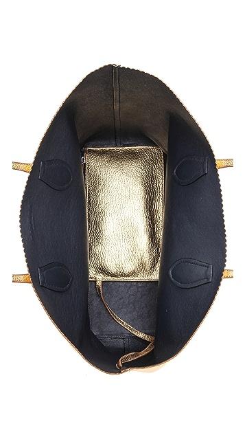 Rochas Borsa Zigzag Leather Tote