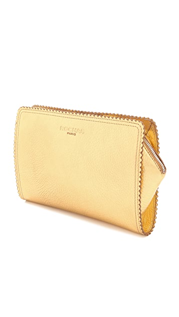 Rochas Borsa Leather Clutch