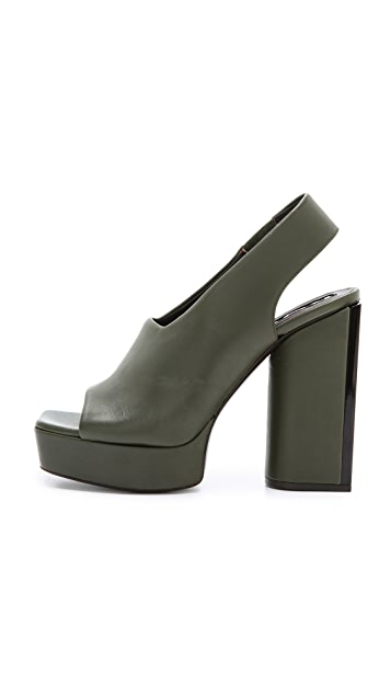 Rochas Slingback Chunky Heels