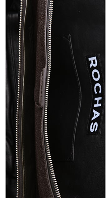 Rochas Zip Bag with 3 Compartments