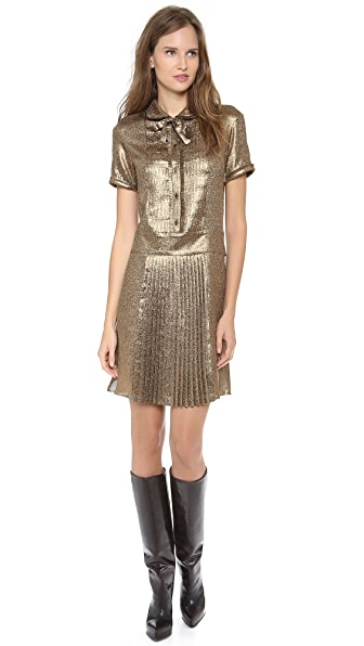 Rochas Short Sleeve Pleated Dress