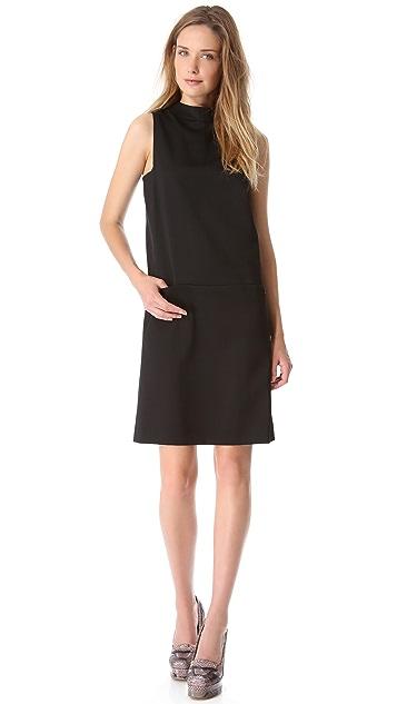 Rochas Sleeveless Button Back Dress