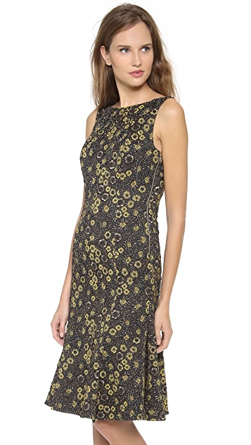 Rochas Sleeveless Floral Dress