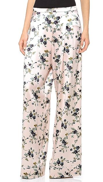 Rochas Silk Wide Leg Pants