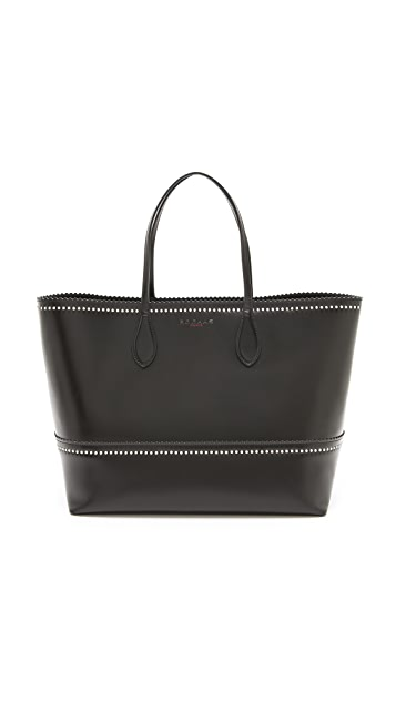 Rochas Studded Leather Tote
