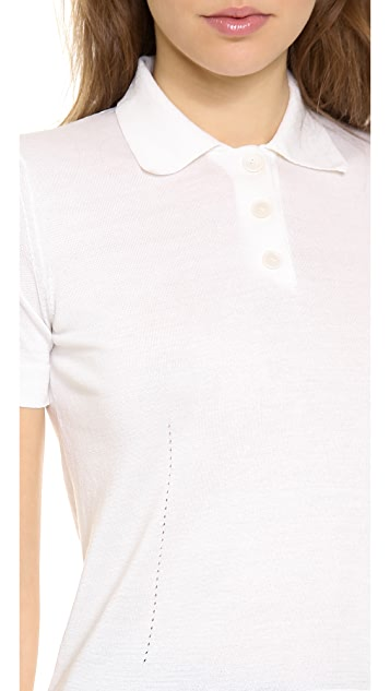 Rochas Short Sleeve Polo Sweater