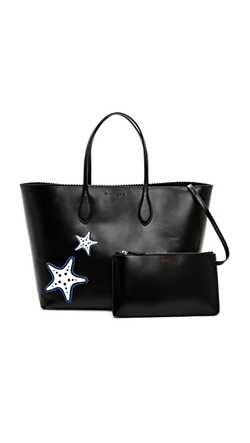 Rochas Leather Star Tote