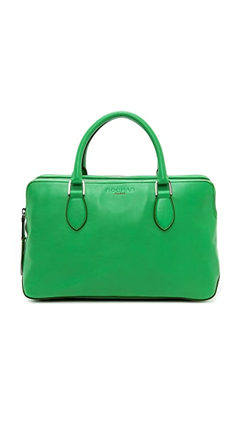 Rochas Leather Double Zip Handbag