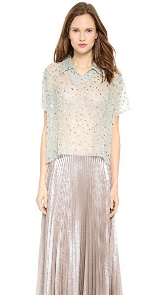 Rochas Jewel Flocked Top