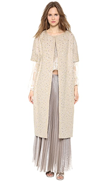Rochas Flocked Crystal Coat