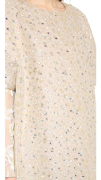 Rochas Flocked Crystal Coat