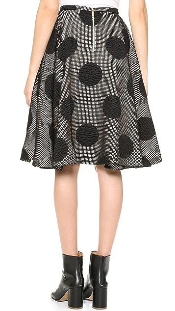 Rochas Polka Dot Skirt
