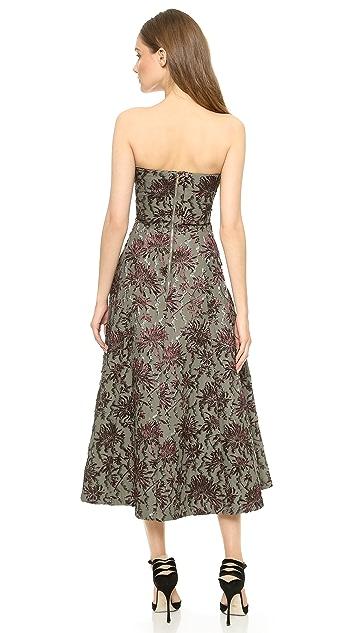 Rochas Strapless Jacquard Dress