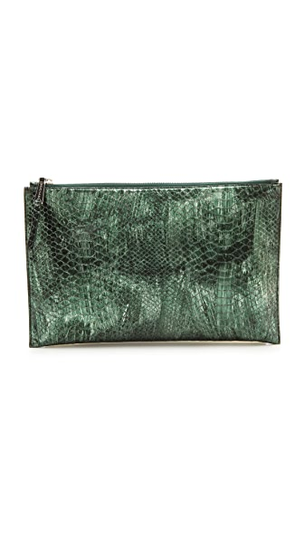 Rochas Leather Clutch