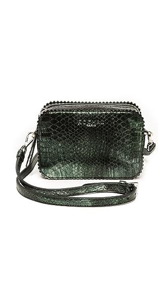 Rochas Embossed Metallic Shoulder Bag