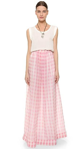Rochas Gingham Skirt