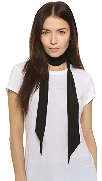 Rockins Straight Up Super Skinny Scarf - Black