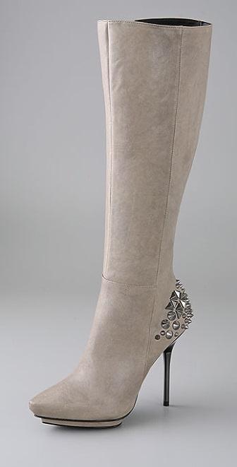 Rock & Republic Kenna Stud Platform Boots on Needle Heel
