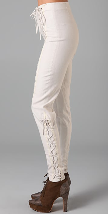 Rodarte for Opening Ceremony Lace Up Pants