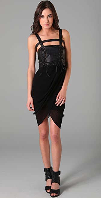 Rodarte for Opening Ceremony Lace Up Draped Dress