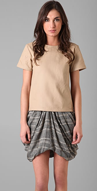 Rodarte for Opening Ceremony Leather T Shirt