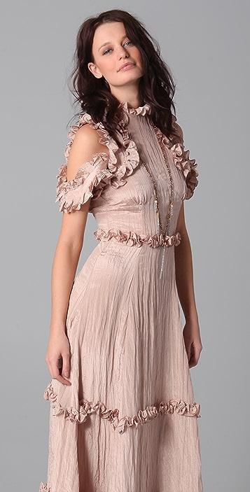 Rodarte for Opening Ceremony High Neck Maxi Dress