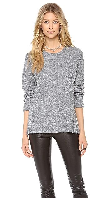 Rodebjer Kembra Embossed Knit Sweatshirt