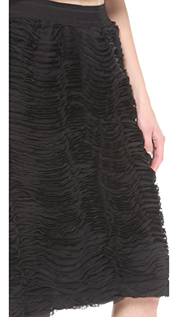 Rodebjer Baluster Chiffon Waves Skirt