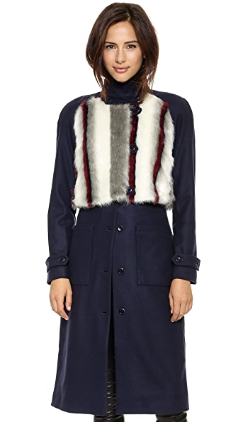 Rodebjer Arca Faux Fur Coat