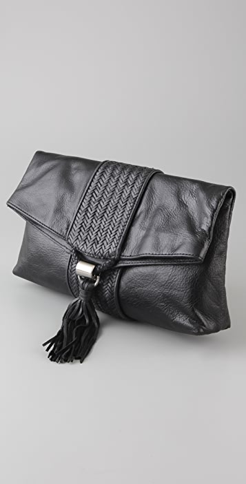 ROMYGOLD Weave Oversized Clutch
