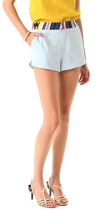 Rory Beca Samoa Embroidered Shorts
