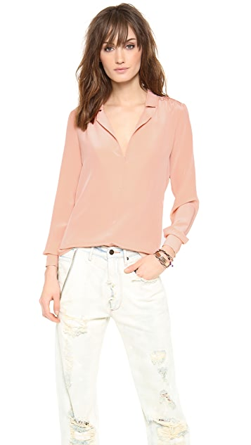 Rory Beca Eddy Shirred Shoulder Top